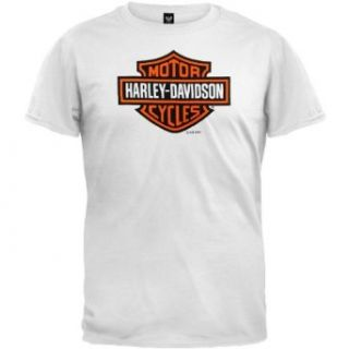 Harley Davidson   Bar & Shield White T Shirt Clothing
