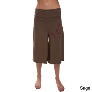 Length 100 percent Organic Cotton Om Yoga Pants (Nepal