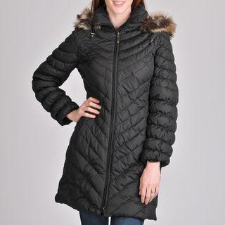 Nuage Womens Melbourne Short Coat with Faux Fur Removable Hood