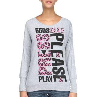 55DSL Tee Shirt Femme Gris chiné   Achat / Vente T SHIRT 55DSL Tee