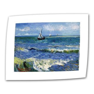 VanGogh Seascape At Saintes Maries Wrapped Canvas Art