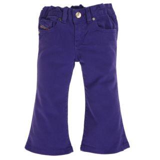 Coloris  violet. Pantalon DIESEL Bébé Fille, 98 % coton, 2 %