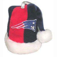 New England Patriots 4 Plush Santa Hat Christmas Tree
