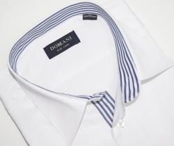 Domani Blue Label Mens White French Cuff Dress Shirt