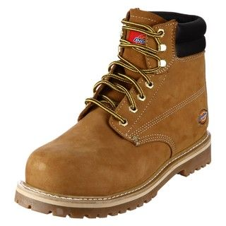 Dickies Mens Brawny Leather Steel Toe Boots