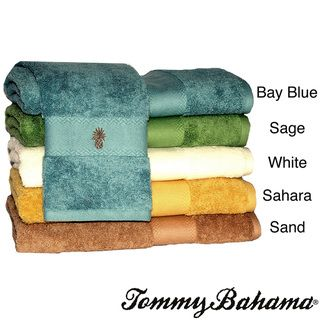 Tommy Bahama Embroidered pineapple Cotton Three piece Bath Towel Set