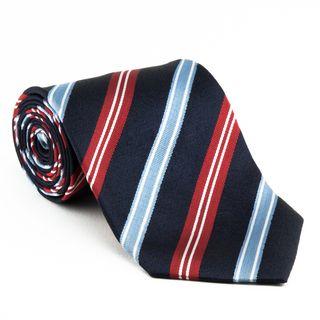 Platinum Ties Mens Red, White and Blue Necktie