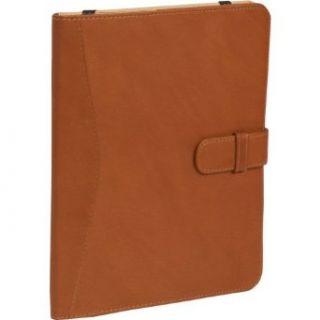 Piel Full Grain Leather iPad Case with Tab Closure (Saddle