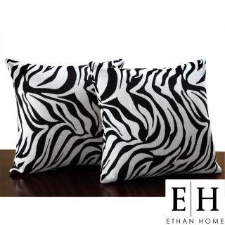 Alexa Zebra Animal Print Black/ Off White Rug (53 X 79)