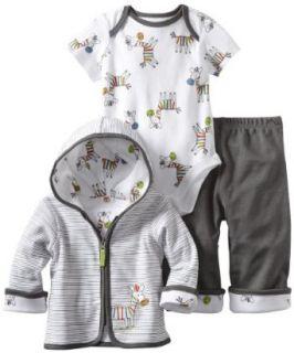 Offspring  Baby Boys Newborn Zebra 3 Piece Jacket Set
