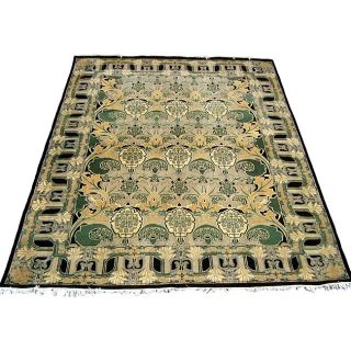 Pak Persian William Morris Black/ Grey Rug (102 x 134)