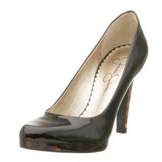 Jessica Simpson Womens Ladonna High Heel Pump,Black Patent,5 M Shoes