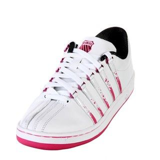 Swiss Womens The Classic Lace up Striped Sneakers