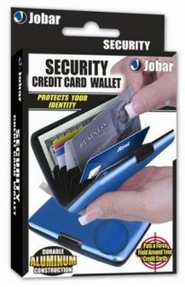 Jobar Aluminum Security Credit Card Wallet (Blue