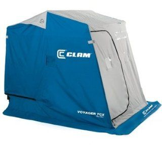 Clam Voyager TCX (THERMAL Top) Ice Fishing House with