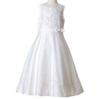 New Little Girls Dress WHITE Communion 14 Wholesome Kids