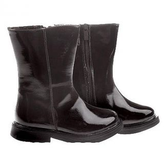 Greggy Girl Girls Black Patent Leather Boots
