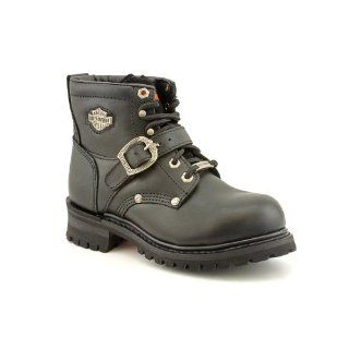 Women Harley Davidson Biker STEEL TOE Boots BLACK 11 M Shoes