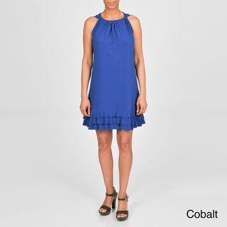 AnnaLee + Hope Womens Plus size Ruffled Sleeveless Dress