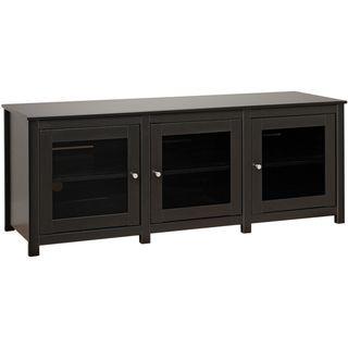 Broadway Black Flat Panel Plasma / LCD TV Console with Glass Doors