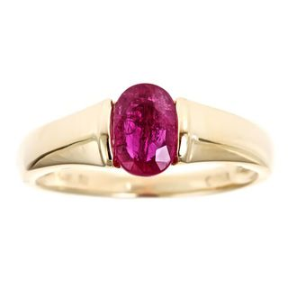 yach 14k Yellow Gold Madagascar Ruby Ring