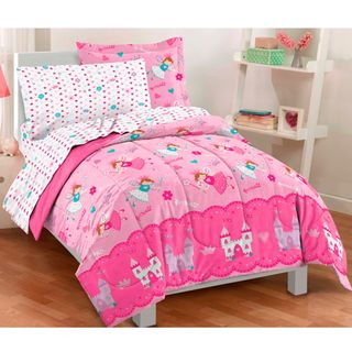 Magical Princess Twin size Bed in a Bag with Sheet Set