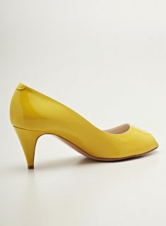Bruno Magli Yellow Mid Heeled Pump