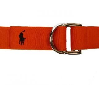 Polo Ralph Lauren Mens Grosgrain Belt In Orange Size M