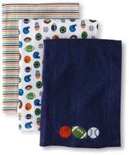 Gerber Baby Boys Newborn 3 Pack Knit Burpcloths Sports