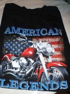 Motorcycle Tee Shirt American Legend Black Tee Mens Fred