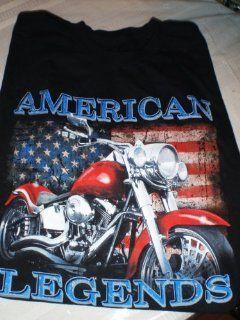 Motorcycle Tee Shirt American Legend Black Tee Mens Fred