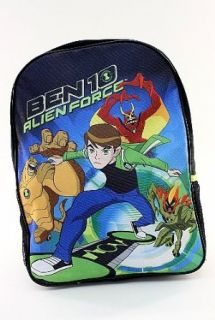 Ben 10 Alien Force Kids Black and Green Backpack School