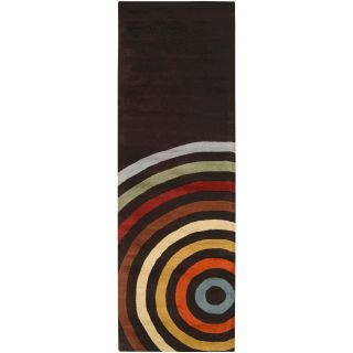 Hand tufted Black Contemporary Multi Colored Circles Arnott Wool