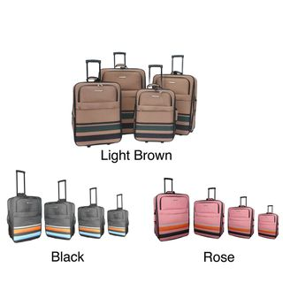 Hercules Rainbow Heavy Duty 4 piece Luggage Set