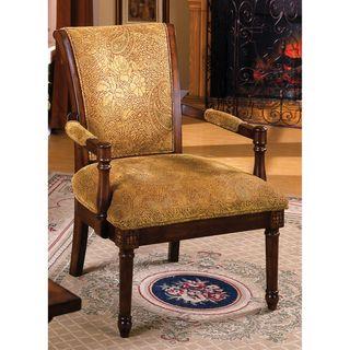 Betty Fleur Antique Oak Wood Accent Chair