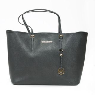 Michael Kors Jet Set Black Saffiano Leather Travel Tote