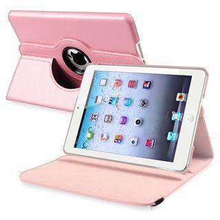 BasAcc Light Pink Leather Swivel Case for Apple iPad Mini