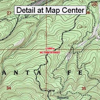 USGS Topographic Quadrangle Map   Gallina, New Mexico