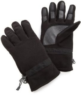 Isotoner Mens Fleece Logo Glove,Black,One Size: Clothing