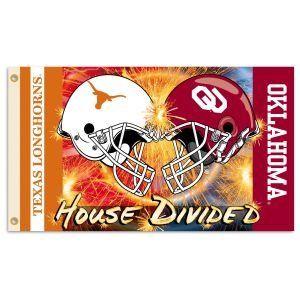 Texas Longhorns / Oklahoma Sooners House Divided 3 x 5