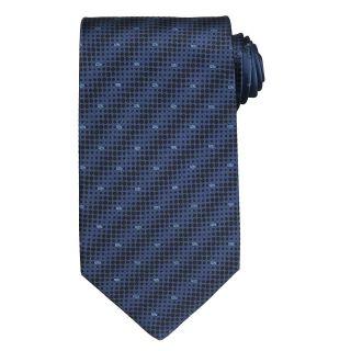 Versace Mens Dot and Greek Key Pattern Silk Tie