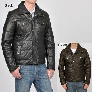 Knoles & Carter Mens Quilted Leather Jacket