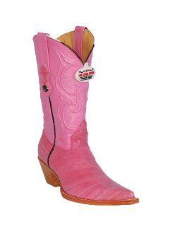 Los Altos Ladies Pink Eel Cowgirl Boots: Shoes