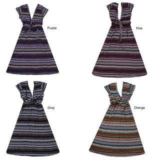 Womens Striped Stretch Dress (Thailand)