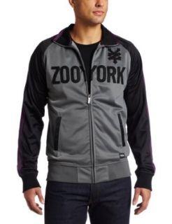 Zoo York Mens Straight Core Track Jacket, Grey, X Large