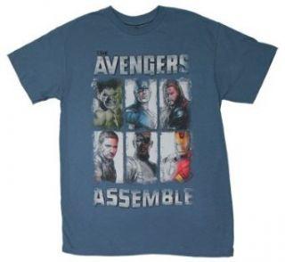 Avengers Assemble   Avengers T shirt Adult 2XL   Slate