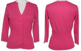 KERSH Stretch Ribbed Waist Cardigan, Small, Pink, F62002S8