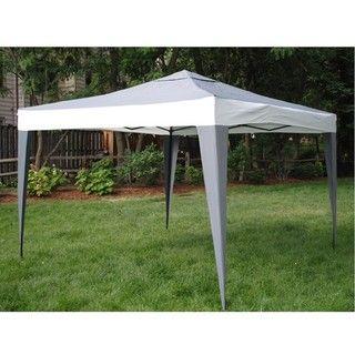 ProGarden Polyester/ Steel Grey Canopy Tent (10 x 10)