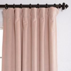 Rose Petal Velvet Blackout 108 inch Curtain Panel
