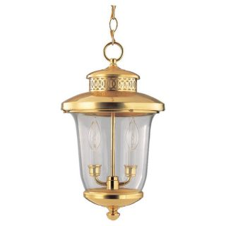 Carolton Polished Brass 2 light Outdoor Pendant Today $38.49 5.0 (1